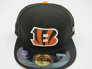 pretty nice 5c884 83b06 Image is loading New-Era-Cincinnati-Bengals-NFL-Authentic-59Fifty-Black-