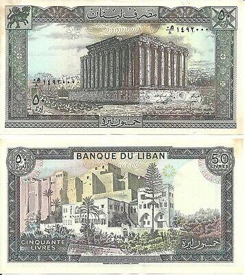 LEBANON 50 Livres Banknote World Paper Money UNC Currency Pick p65d 1988