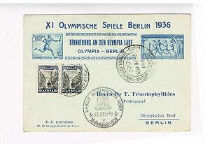Deutsches reich Grèce d'GA pour Olympia passe 1936 avec sst-afficher le titre d`origine a5ckyuvY-07142926-121892492