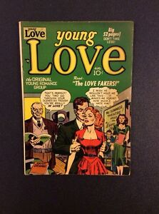 YOUNG-LOVE-12-Golden-Age-Comic-Book-Prize-Publishing-1950-F-VF-Vintage-Romance