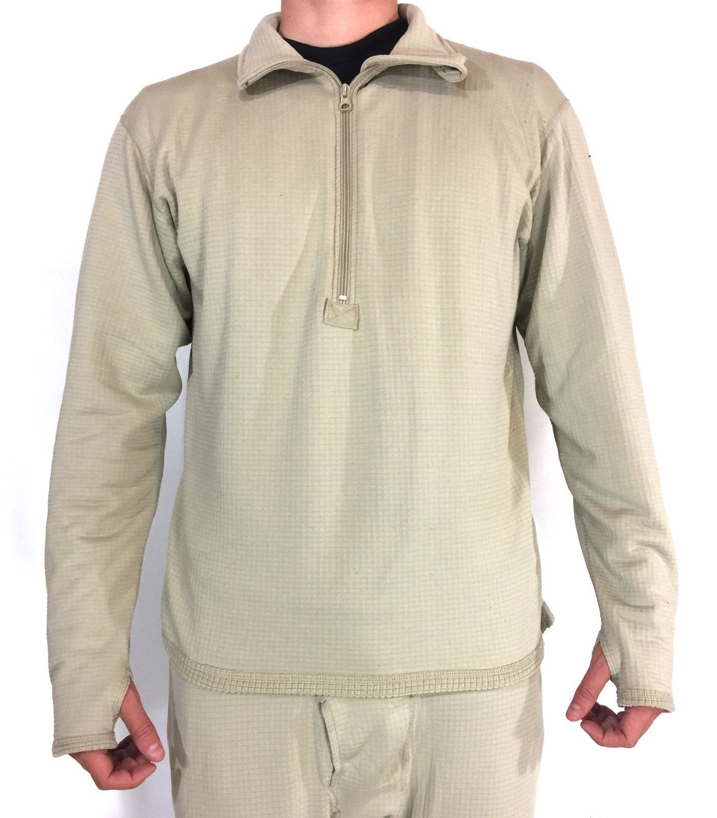 NEW POLARTEC Thermal Military Shirt, ECWCS Mid Weight Fleece Level 2, Waffle Top
