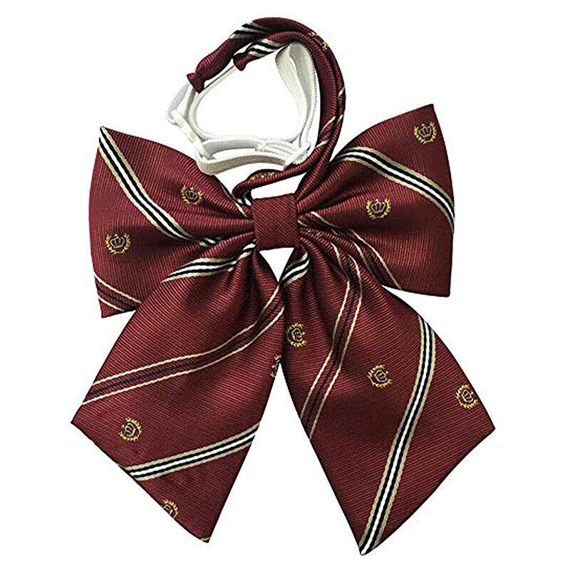 1x Uniform Bow Tie Collar Flower Japanese College Style Girls Boxer Plaid TieDz
