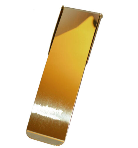 Polished Brass Inner Door Letter Plate Tidy Vertical Letter Plate 210 x 57mm