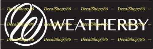Hunting//Outdoor Sports Weatherby Firearms Vinyl Die-Cut Peel N/' Stick Decal