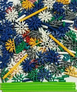 295-NEW-K-039-NEX-Rods-Connectors-Mixed-Lot-36-Blue-Slotted-White-Green-Gray-KNEX