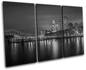 San-Francisco-Skyline-Night-City-TREBLE-CANVAS-WALL-ART-Picture-Print