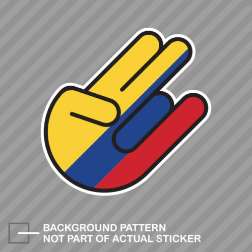 Colombian Shocker Sticker Decal Vinyl Colombia COL CO