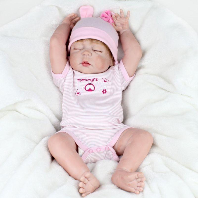 22  Baby Reborn Full Body vinile in silicone Ragazza NEONATO BEBE Bambola fatta a mano Giocattolo UK