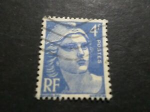 France-1945-47-Stamp-717-Marianne-Gandon-Obliterated-VF-Used-Stamp