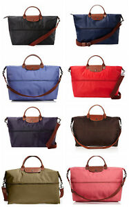 Details about NEW Longchamp Le Pliage Expandable Weekender Crossbody Black  Beige Navy Grey Red