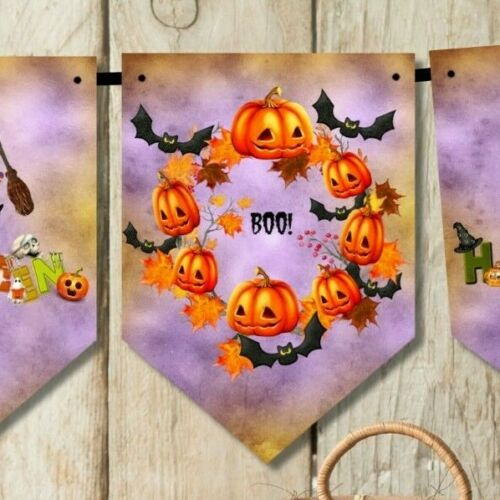 Happy Halloween Bunting Party Décoration /& Ruban