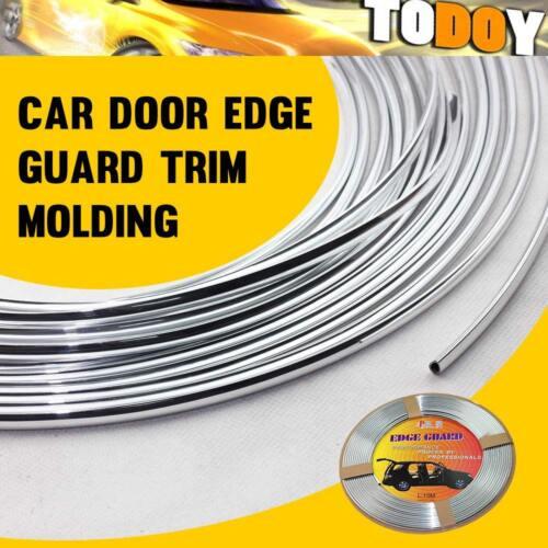 13Ft 390cm Chrome Silver Moulding Trim DIY Car Door Edge Guard Strip Protector