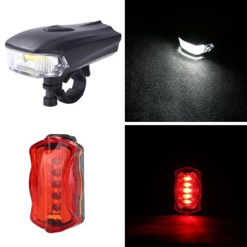 Bicycle Headlight Tail Lamp Flashlight Torch Set Headlamp Rear Light for Jogging
