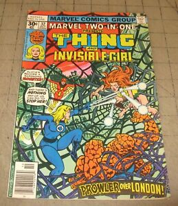 Marvel-TWO-IN-ONE-32-Oct-1977-VG-Condition-Comic-The-Thing-amp-Invisible-Girl