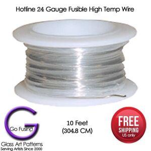 Hotline-HTW-High-Temp-Wire-17-or-24-Gauge-10-feet-Ceramics-Glass-Fusing-Supplies