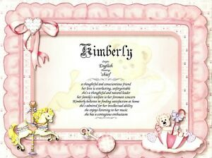 Image Is Loading Baby Girl Personalized Name Meaning Nursery Baby Shower