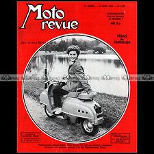 MOTO REVUE N°1182-c SCOOTER TERROT 125 PARIS-NICE JAWA-CZ 150 ADLER 200 1954