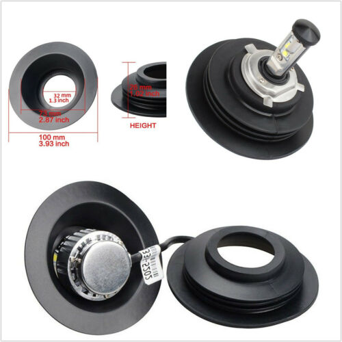 2PCS Universal Housing Dust Caps For HID LED Light Kit Aftermarket Headlight CN