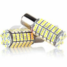 2x  Xenon 1156 BA15S RV TrailerWarm White LED 120SMD 5050 Lights Bulb 12V Car