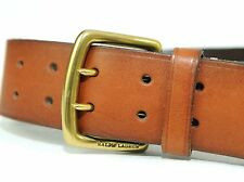 Ralph Lauren Mens Casual Leather Belt Brown Vintage Double Prong Buckle Size 32