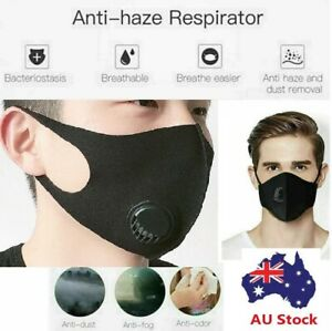 Pollution-Breathe-Easy-Face-Mask-Respirator-Washable-reusable-Cover-AU-STOCK
