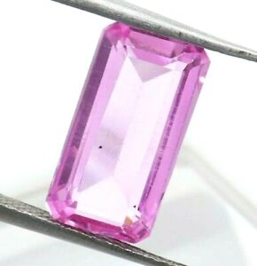 4.75 Ct Natural Pink Sapphire Emerald Cut AGSL Certified Loose Gemstone