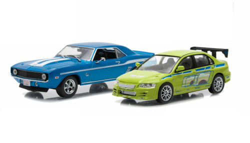 Camaro Mitsubishi Lancer Fast /& Furious 2 Modellautos 1:43 GreenLight 86253