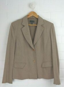 Vintage-COUNTRY-ROAD-Golden-Light-Brown-Tan-Classic-Blazer-Jacket-Size-12