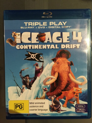 1 of 1 - Ice Age 4 - Continental Drift (Blu-ray, 2012, 2-Disc Set) regions B & region 4