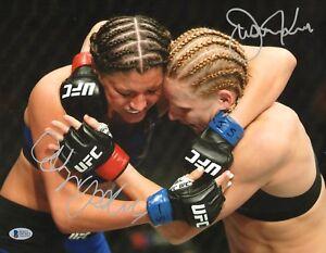 Justine Kish & Ashley Yoder Signed 11x14 Photo BAS COA UFC Fight