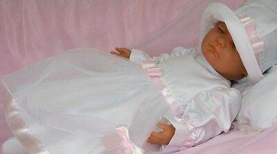 Search For Flights Baby Girls Dress White Pink Christening Flower Girl With Hat Long Sleeve