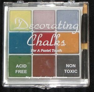 Craft-T Products /'DECORATING CHALKS/' 9pc Choose from 2 Card Making//Mix Media