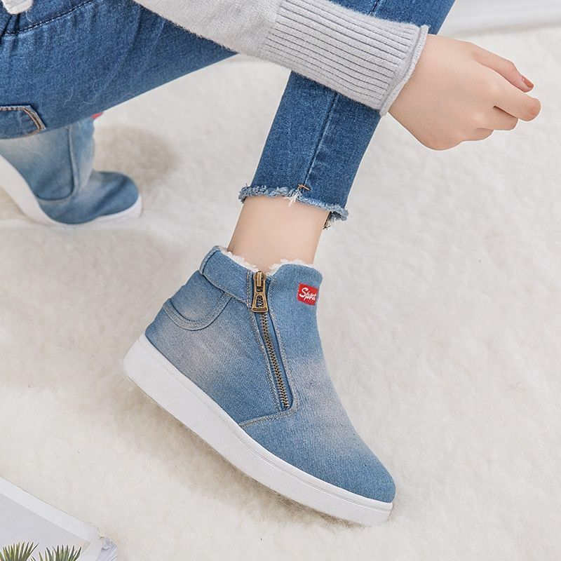 Classic Denim Winter damen damen damen schuhe Snow Warm Stiefel Casual Flats Fashion Turnschuhe 67660f