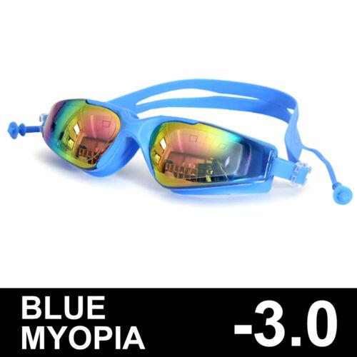 Silicone Swimming Goggles Adult Swimming Myopia Glasses Large Frame Earplug
