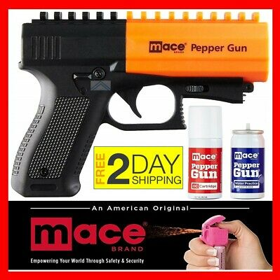 Mace Pepper Spray Gun 2 0 Self Defense Police Strength Stun Range Non Lethal Oc 22188804065 Ebay