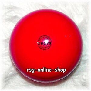 RSG-Ball-JUNIOR-BALL-Gymnastikball-ROT-Lack-150-170mm-300g-NEU
