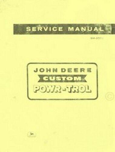 John Deere Custom Powr-Trol 520 620 720 820 Tractor Service Shop Repair Manual