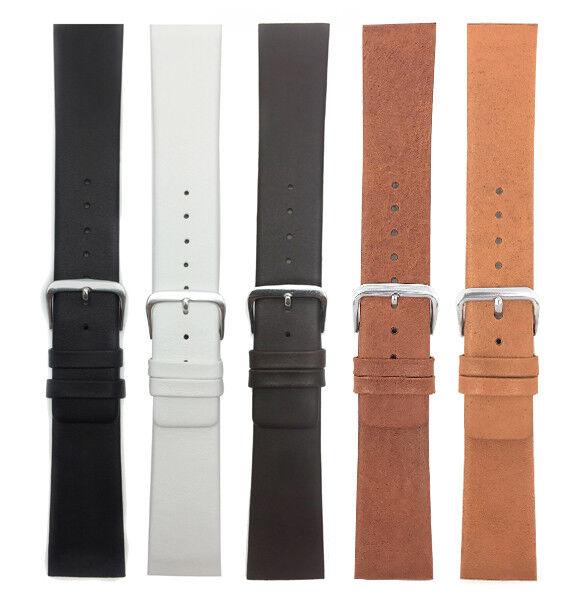 Genuine Leather Skagen Watch Strap Band,Screw, 12 to 31mm White Black Brown Tan