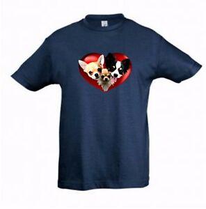 Chihuahuas-in-a-Heart-Kids-Dog-Themed-Tshirt-Childrens-Tee-Xmas-Gift-Birthday