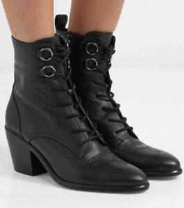 DVF Diane Von Furstenburg Black Leather