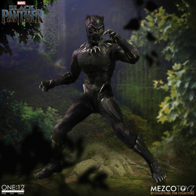 """One: 12 Collective Marvel BLACK PANTHER 6"""" Action Figure 1/12 Scale Mezco"""