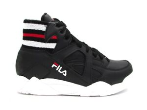 Details about Fila Cage Gore TC mid Wmn Sneakers Black White