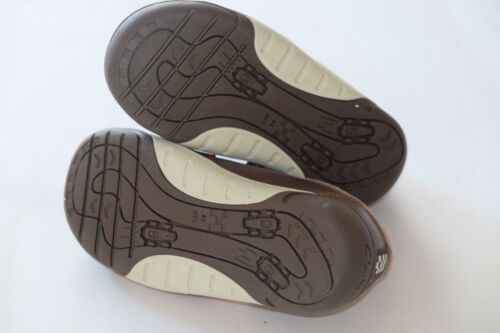 Clarks Brown Leather boys kids shoes//trainers 7//24-9.5//27.5 New