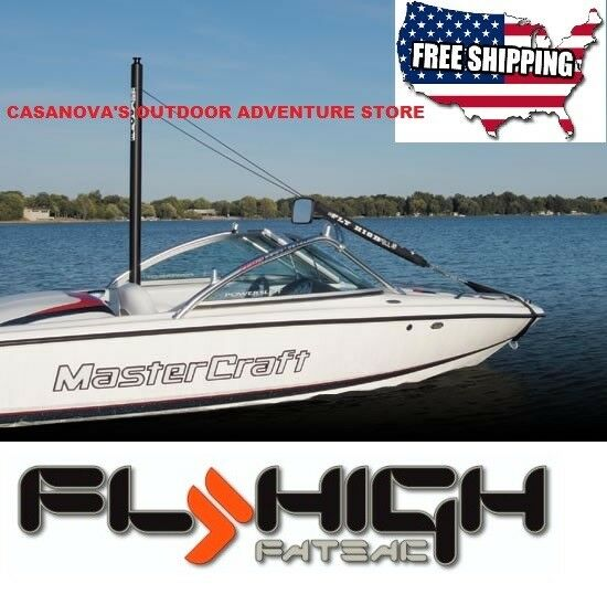 FLY HIGH W913X ALUMINUM X-POLE 7' WAKEBOARD BOAT PYLON EXTENSION NEW 2019 MODEL