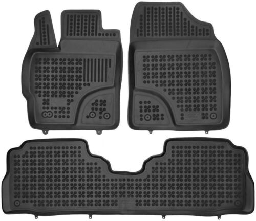 ab 2011 Bj 3-teilige schwarze Gummifußmatte für TOYOTA Prius
