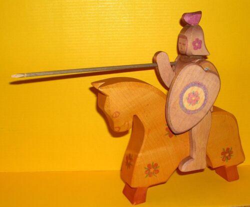 Ostheimer Blumenritter Pferd Holzspielzeug beweglich original horse knight (1)