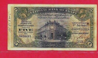 Paper Money: World 1936 5 Egyptian Pound Cook Vf No Damage M/34,048661