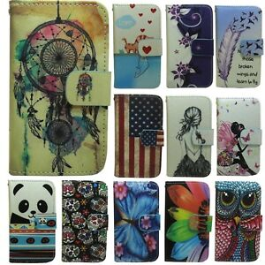 1x-Cute-Patterns-Magnetic-Wallet-Stand-flip-case-cover-for-Sony-Acro-S-Lt26W