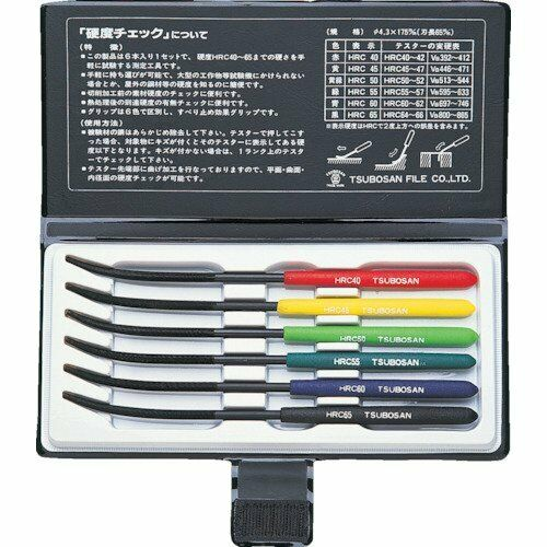 TSUBOSAN Japan Hardness Tester Checker File Set Ma00600 908