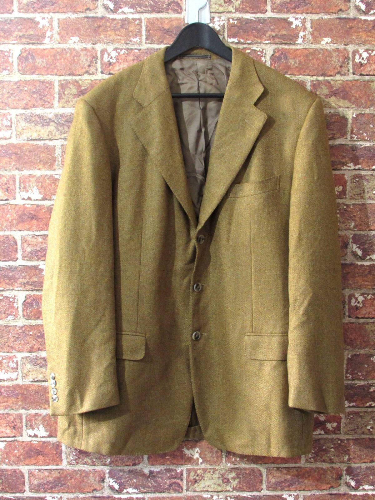 ERMENEGILDO ZEGNA Cashmere Mohair Blazer Sport Coat 56 US 46 XL Fall Braun